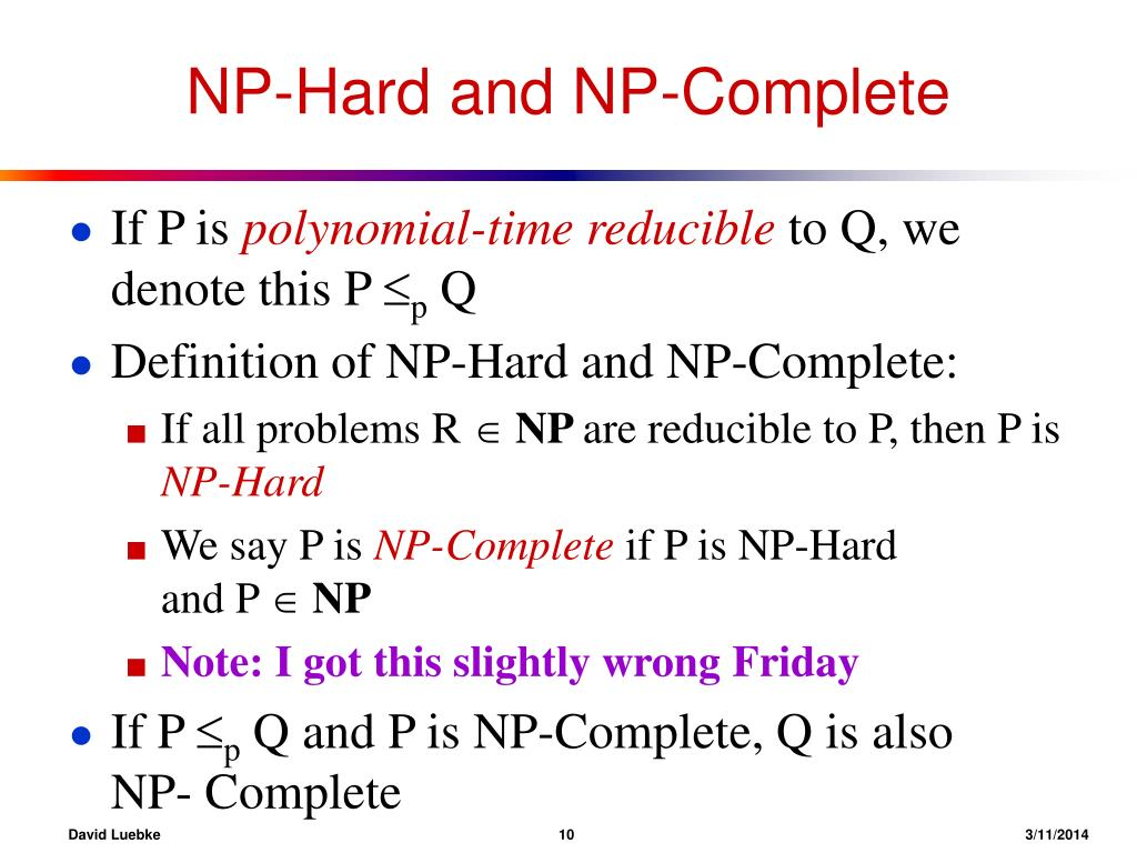 NP-Hard and NP-Complete