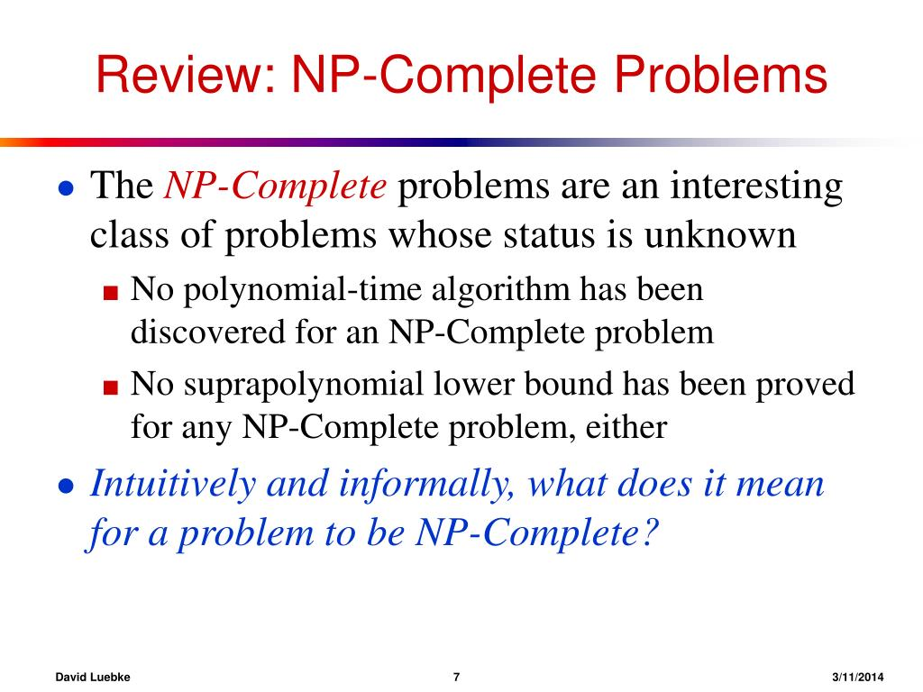 Review: NP-Complete Problems