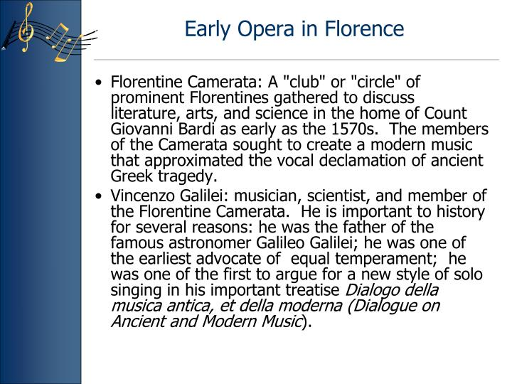Early opera in florence