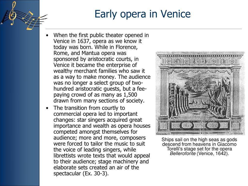 Early opera in Venice