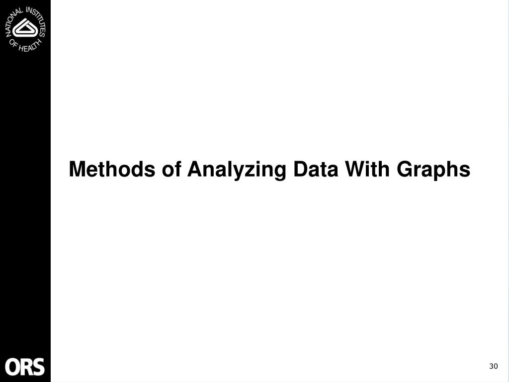 Methods of Analyzing Data With Graphs