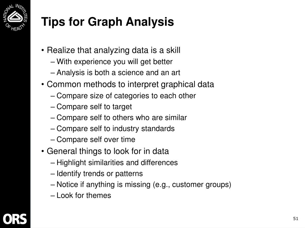 Tips for Graph Analysis