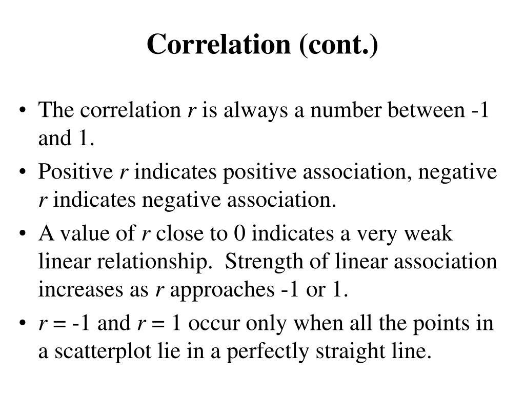 Correlation (cont.)