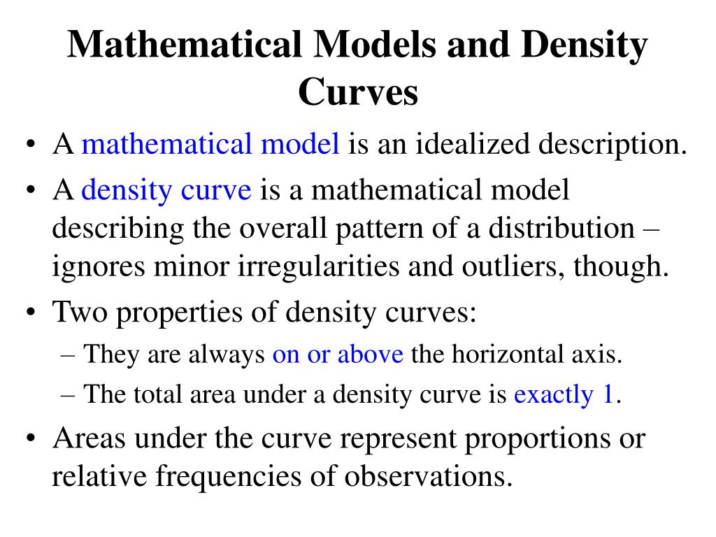 Mathematical Models and Density Curves