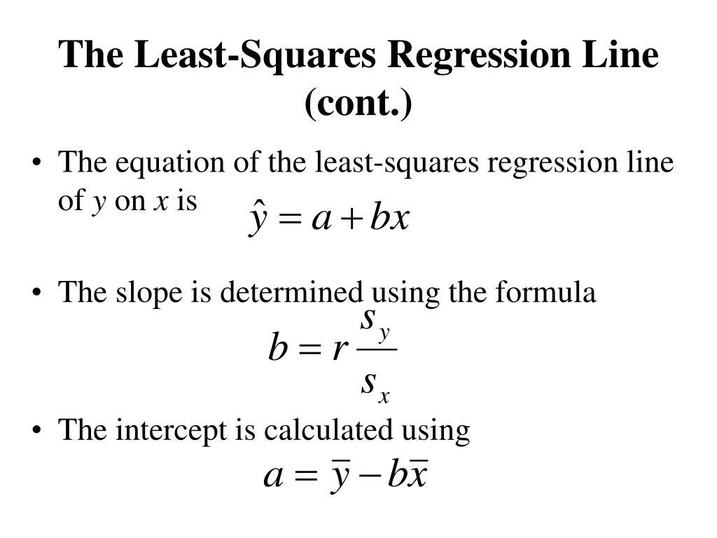 The Least-Squares Regression Line (cont.)