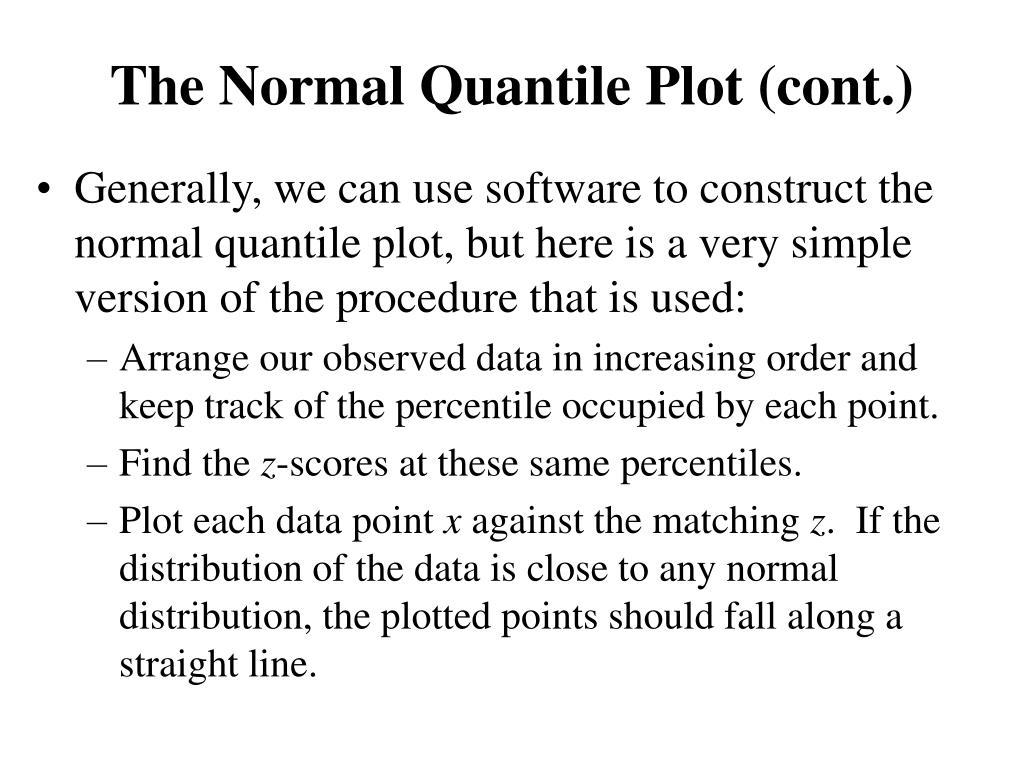 The Normal Quantile Plot (cont.)