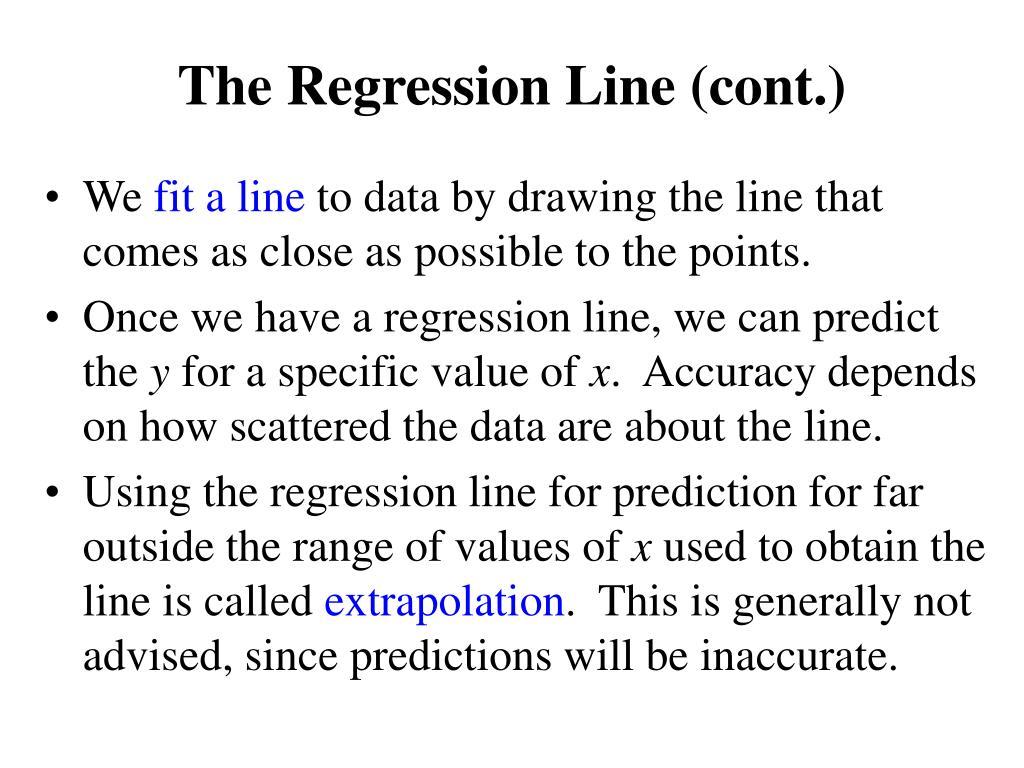 The Regression Line (cont.)