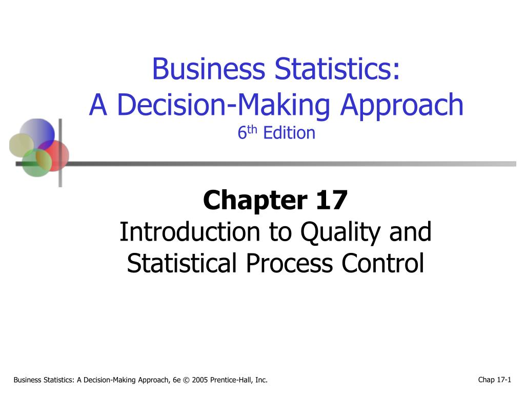 chapter 17 introduction to quality and statistical process control l.