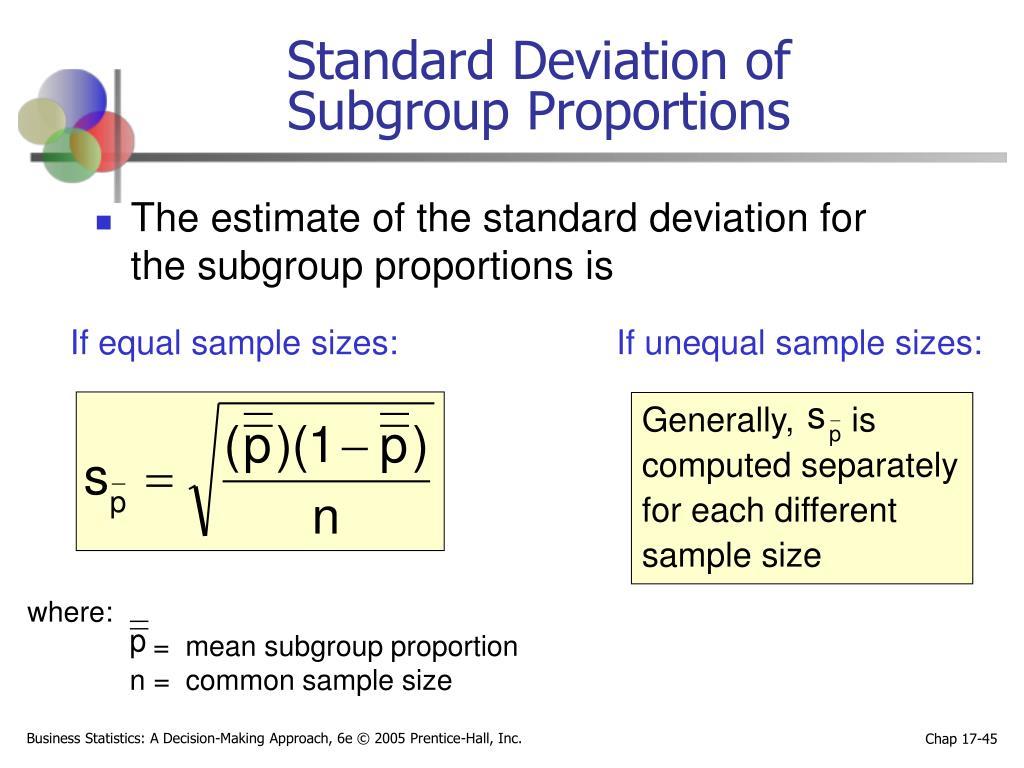 Standard Deviation of