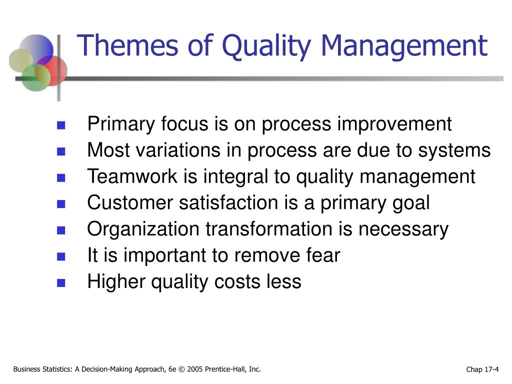 Themes of Quality Management