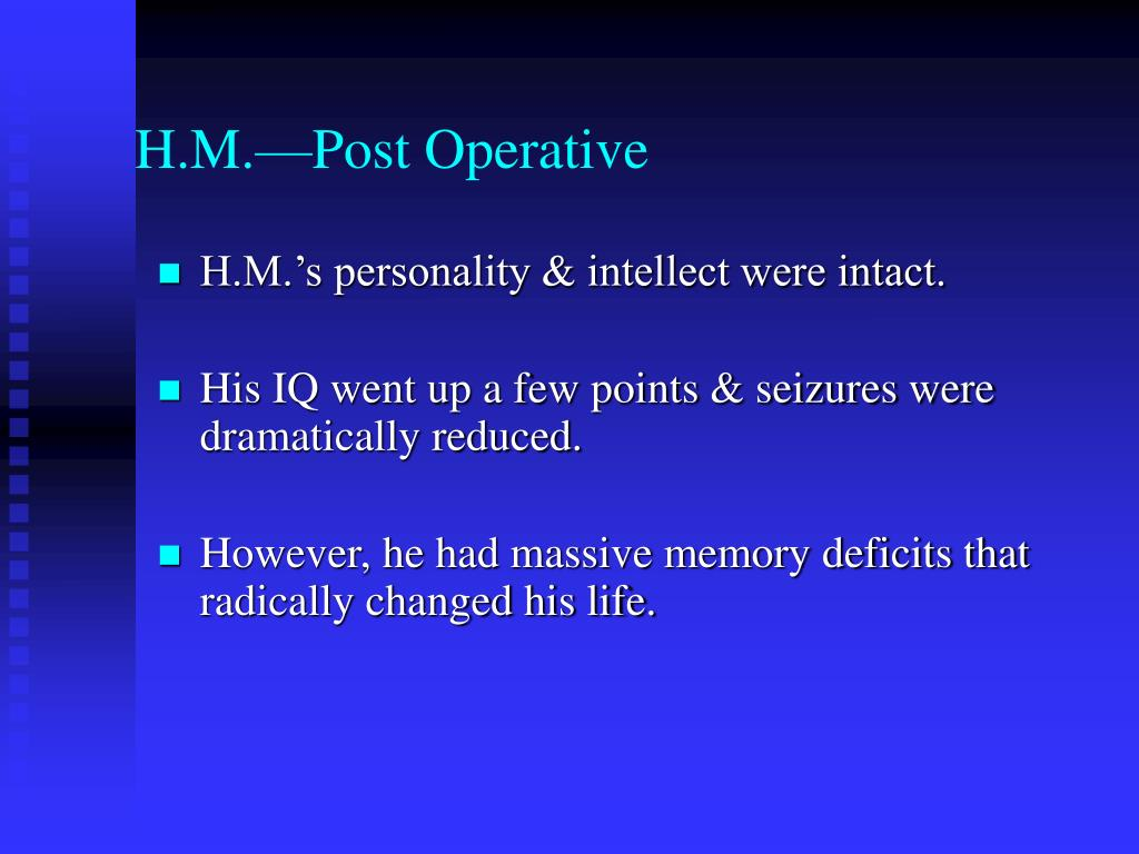 H.M.—Post Operative