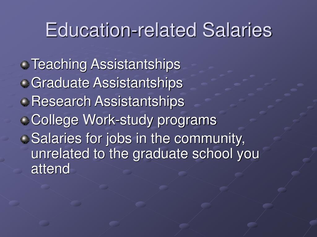 Education-related Salaries