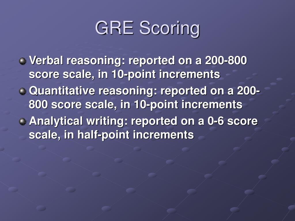 GRE Scoring