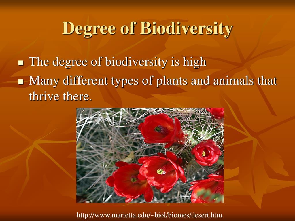 Degree of Biodiversity