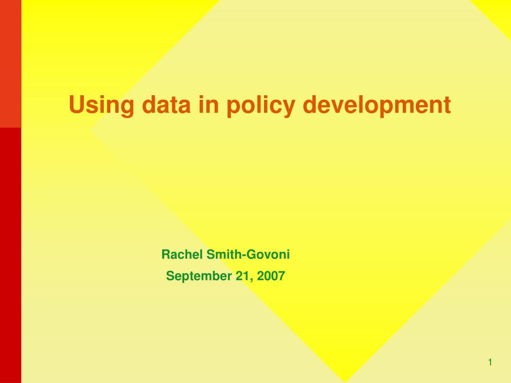 Using data in policy development