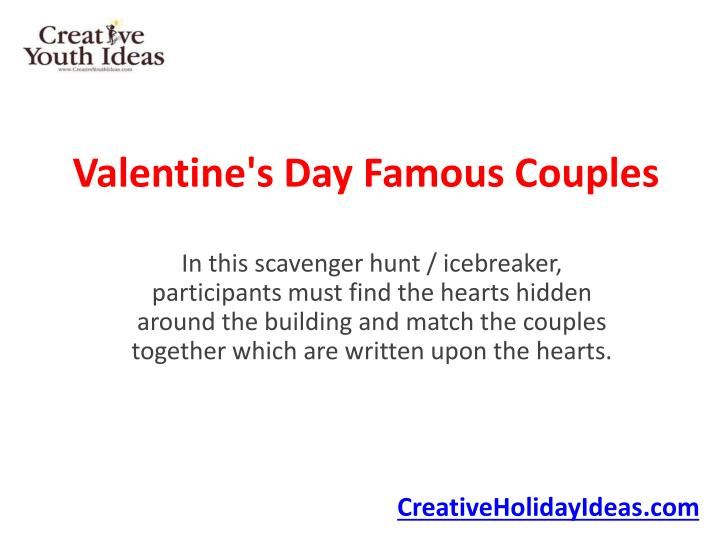 Valentine s day famous couples