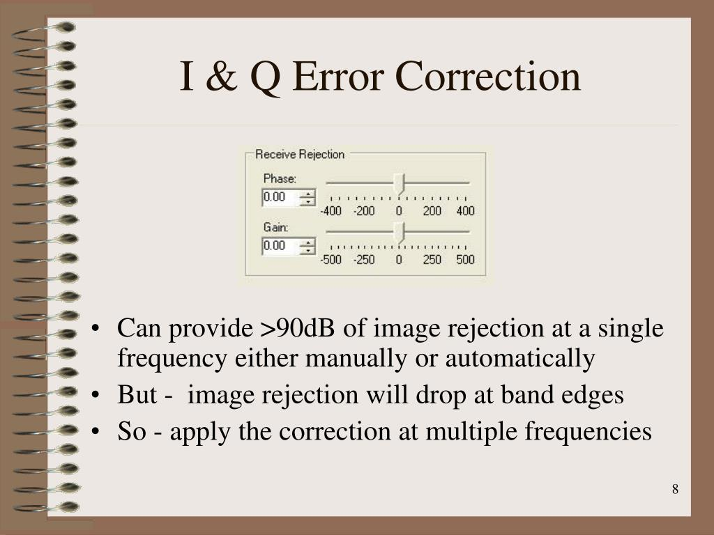 I & Q Error Correction