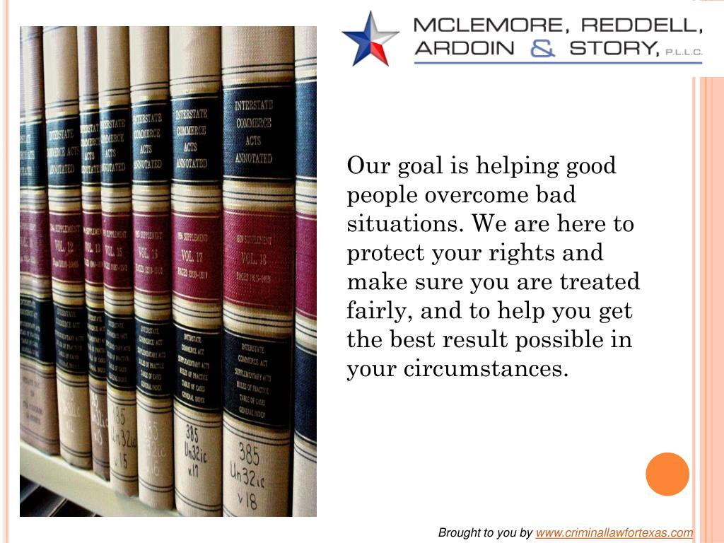 Our goal is helping good people overcome bad situations. We are here to protect your rights and make sure you are treated fairly, and to help you get the best result possible in your circumstances.