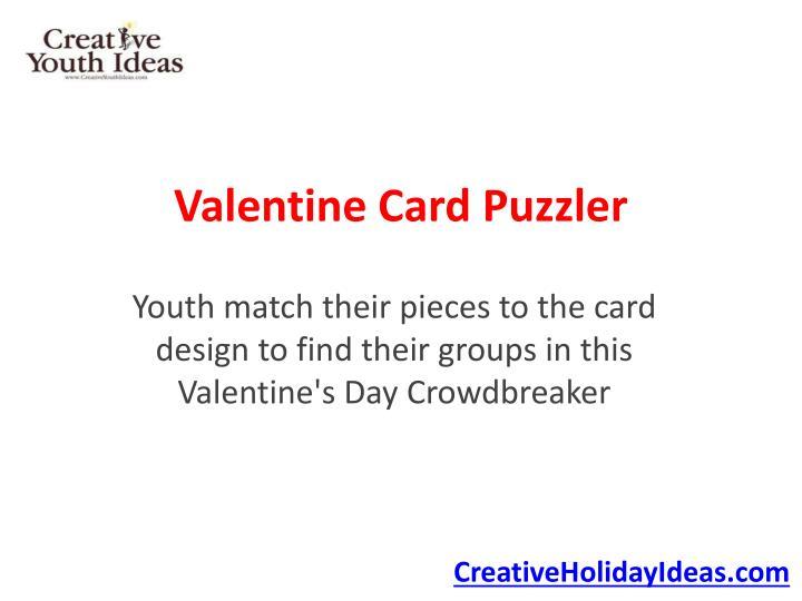 Valentine card puzzler