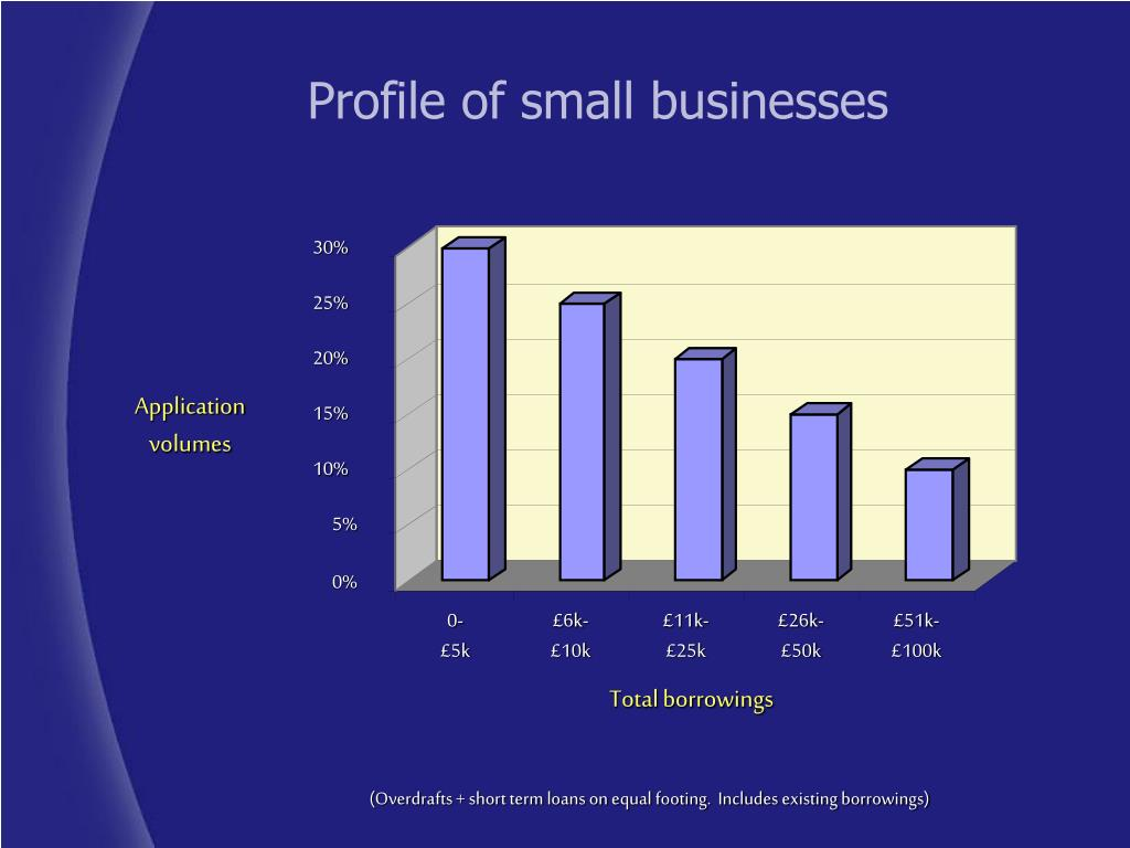 Profile of small businesses