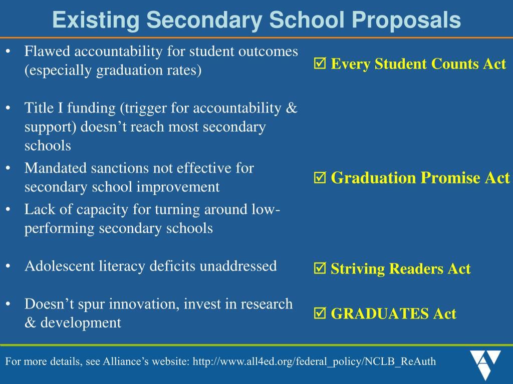 Existing Secondary School Proposals