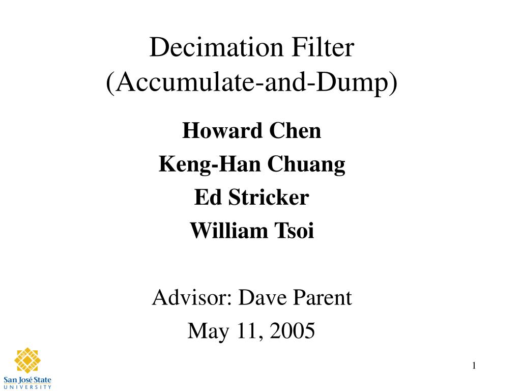 decimation filter accumulate and dump l.