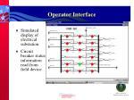 operator interface