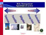 risk management spectrum of action