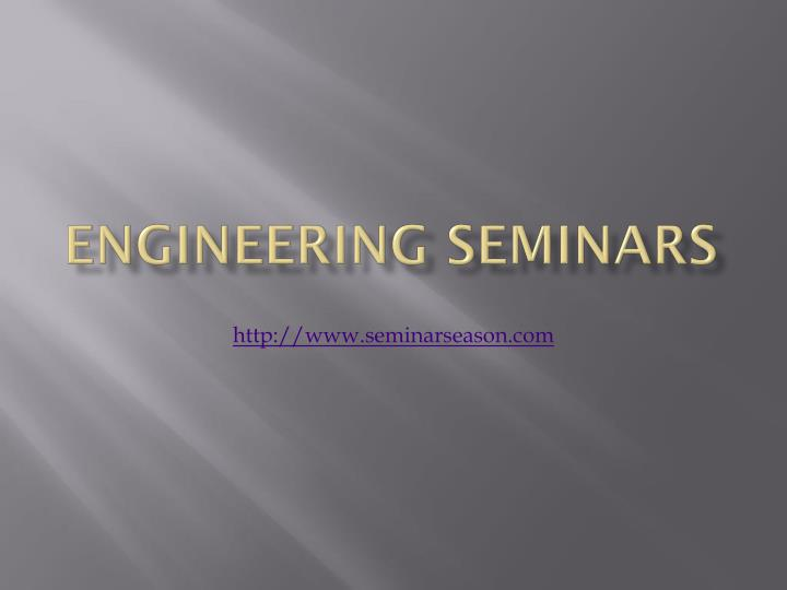 engineering seminars n.