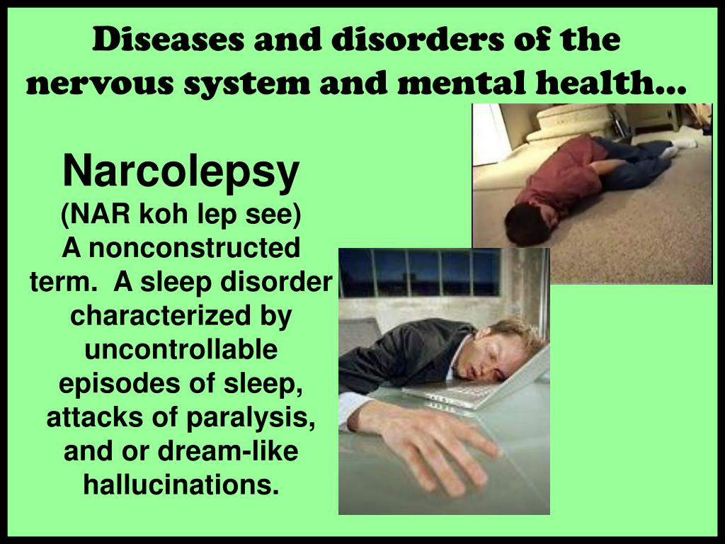 Diseases and disorders of the nervous system and mental health…