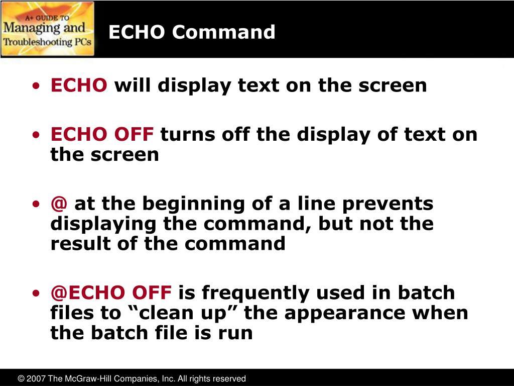 ECHO Command