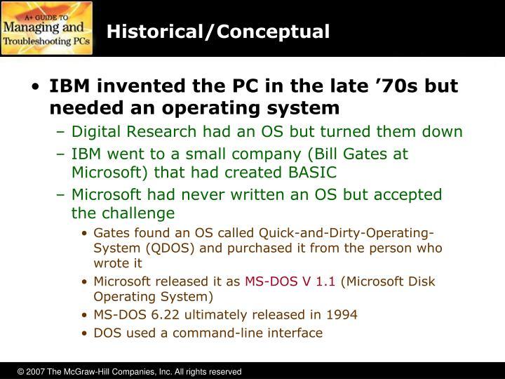 Historical conceptual