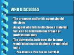 who discloses