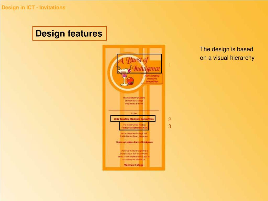 Design in ICT - Invitations