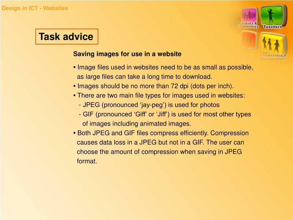 Design in ICT - Websites