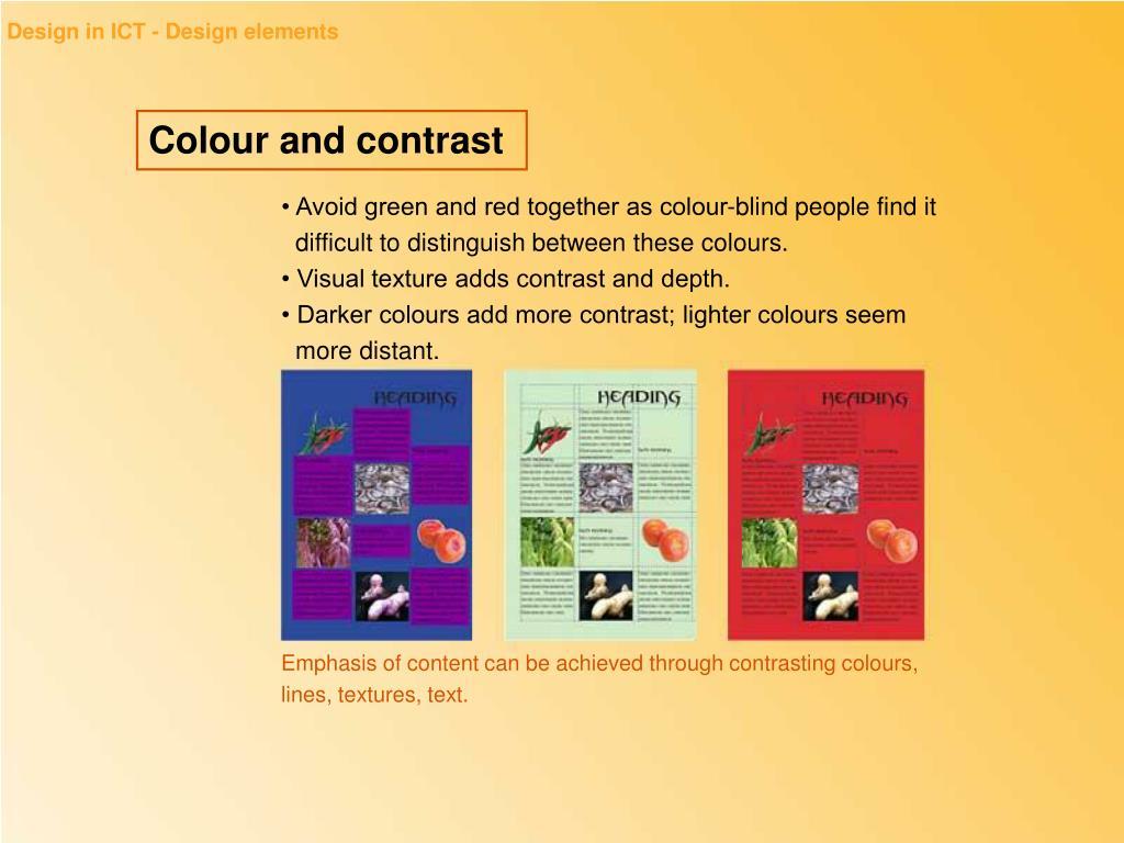 Design in ICT - Design elements