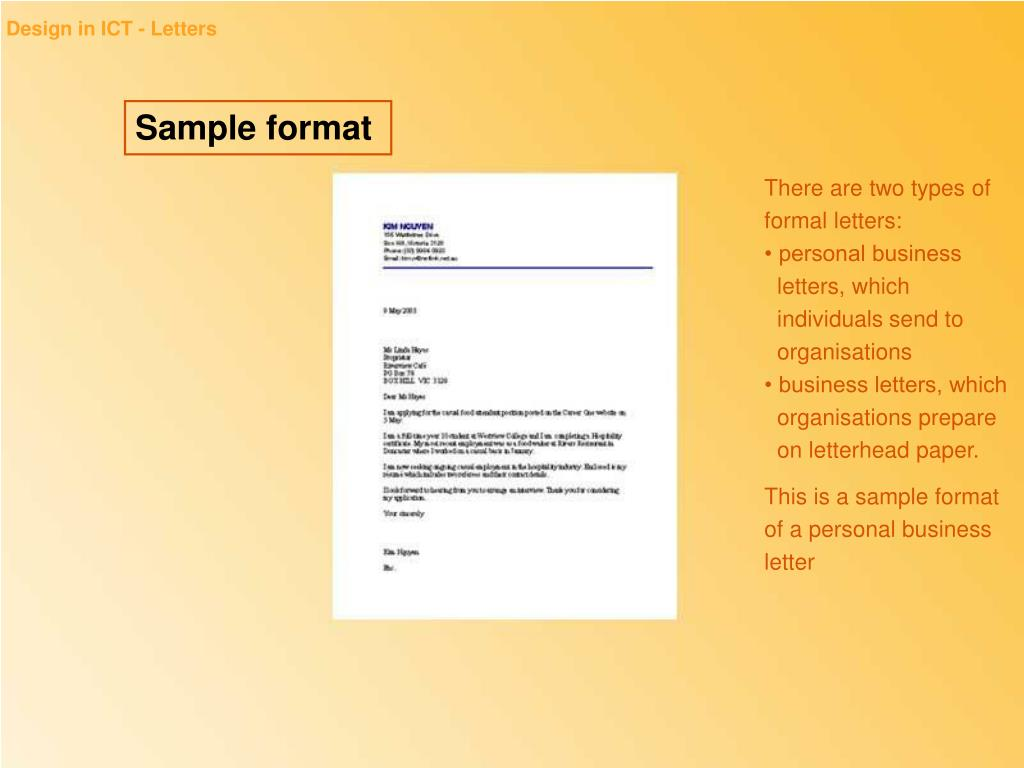 Design in ICT - Letters