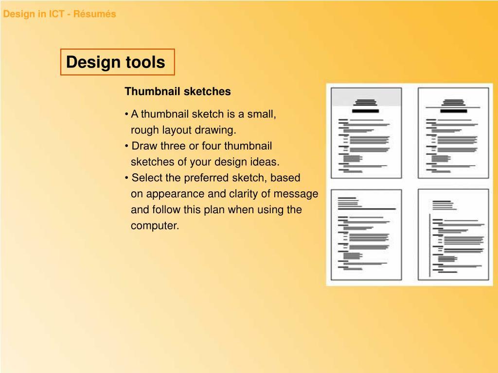 Design in ICT - Résumés