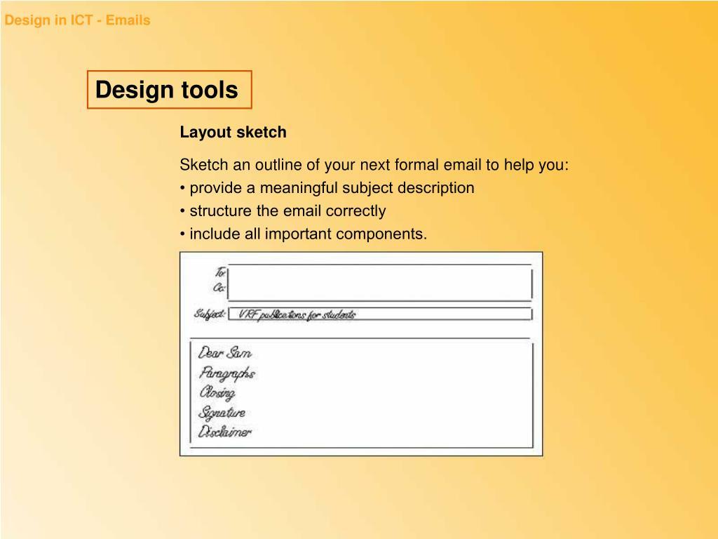 Design in ICT - Emails