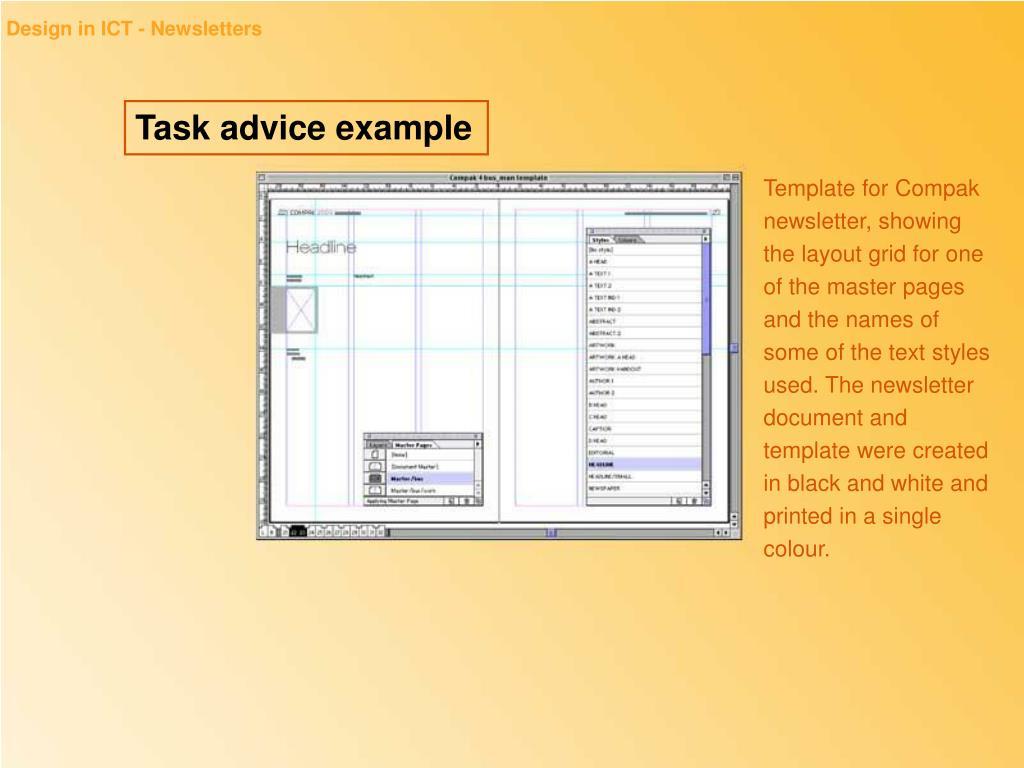 Design in ICT - Newsletters