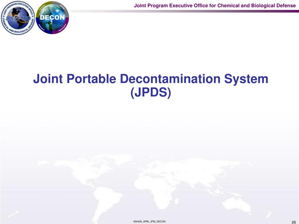 Joint Portable Decontamination System (JPDS)
