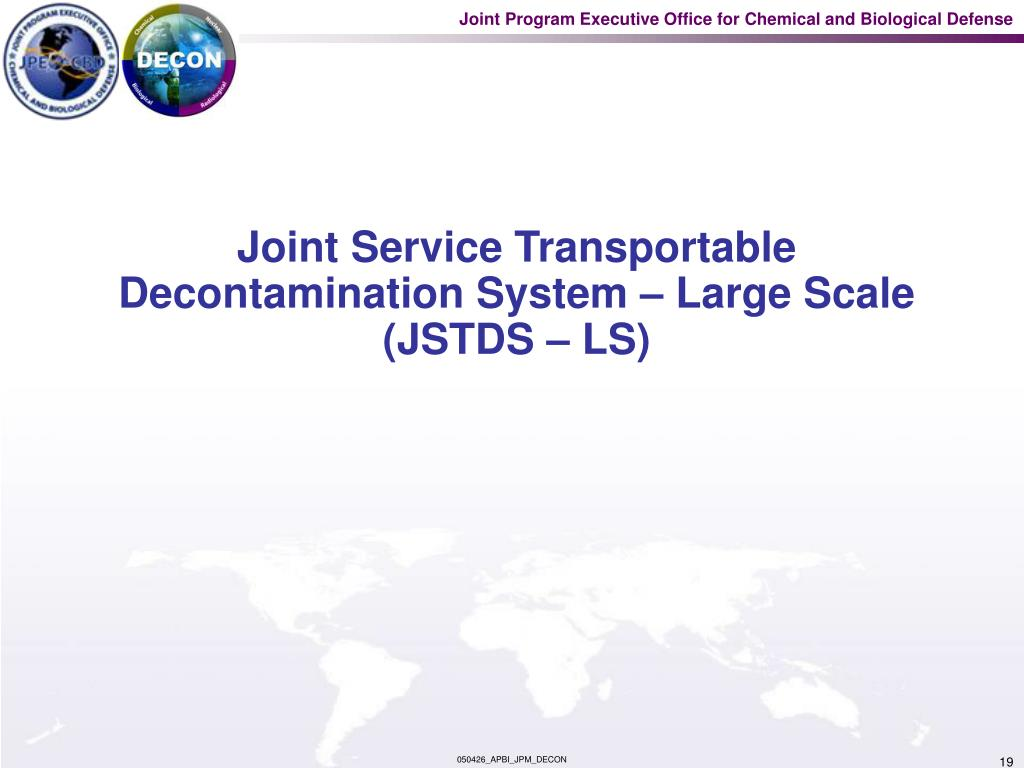 Joint Service Transportable Decontamination System – Large Scale (JSTDS – LS)