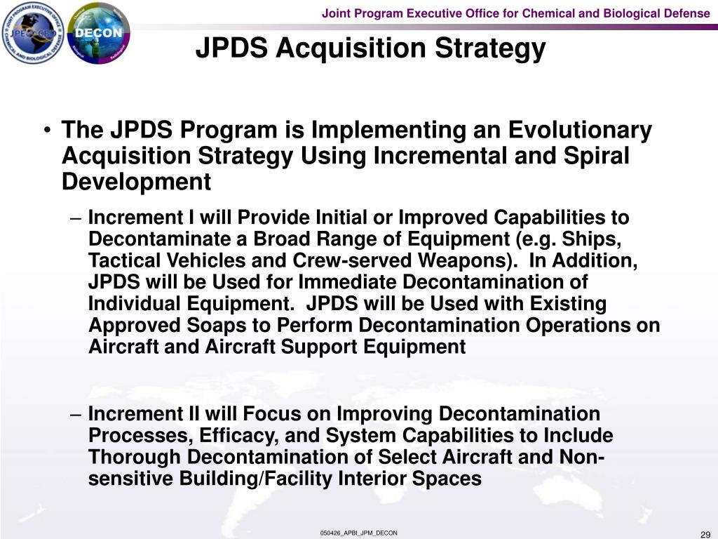 JPDS Acquisition Strategy