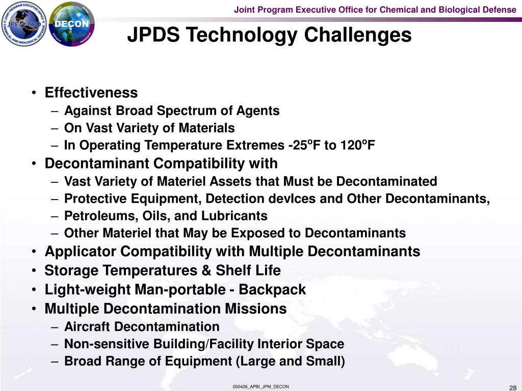 JPDS Technology Challenges