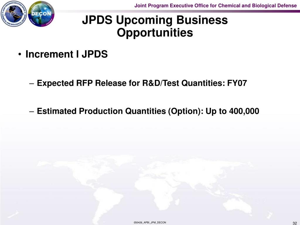 JPDS Upcoming Business