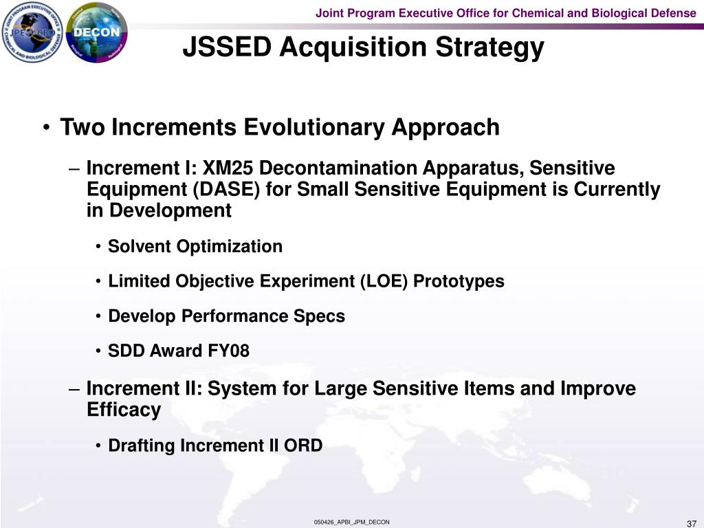 JSSED Acquisition Strategy