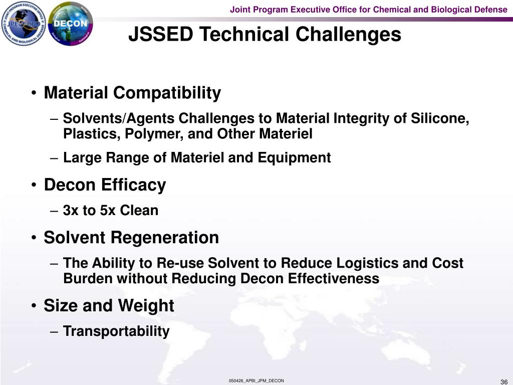 JSSED Technical Challenges