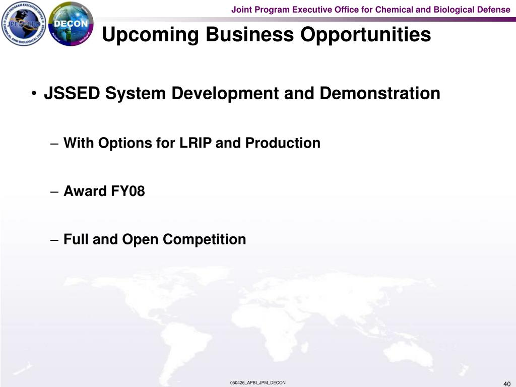 Upcoming Business Opportunities