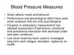 blood pressure measures
