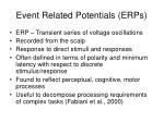 event related potentials erps